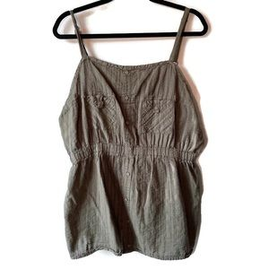 Torrid Olive Button Cami Sleeveless 2X